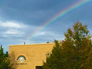 Picture of Atlantis Community with rainbow