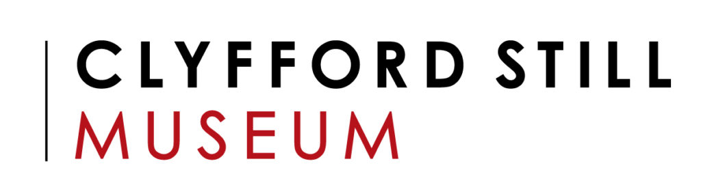 Clyfford Still Museum logo with red and black text